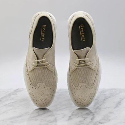 Gregers sport brogue taupe marmor