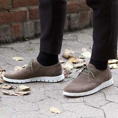 Gregers sko shoes sport derby oliven
